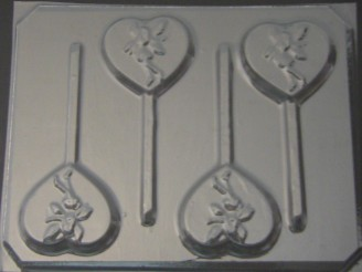 921 Heart with Fairy Chocolate or Hard Candy Lollipop Mold