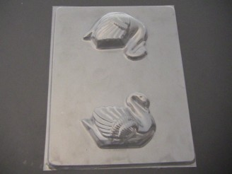 1008 Swan 3D Chocolate Candy Mold