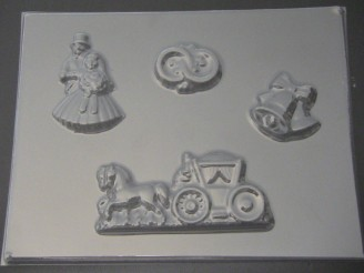 1024 Bride Groom Rings Carriage Chocolate Candy Mold